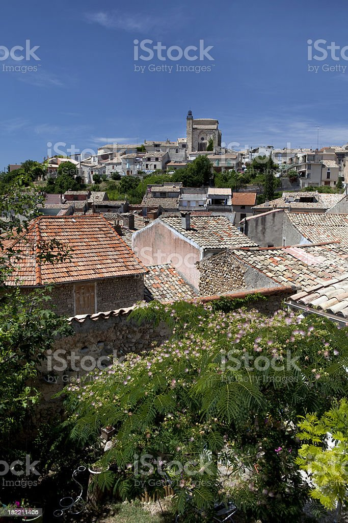 Village of Apt in Provence France stock photo