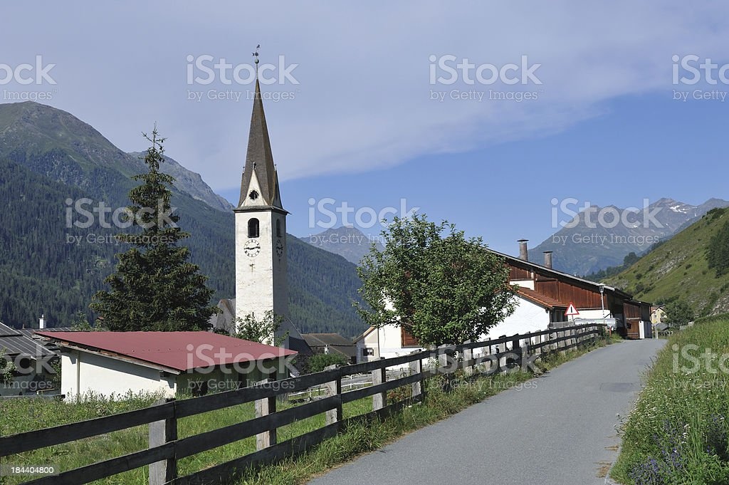 Village of Ardez royalty-free stock photo