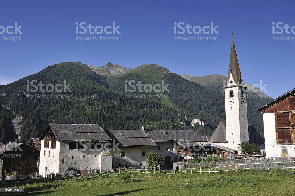 Village of Ardez royalty-free stock photo