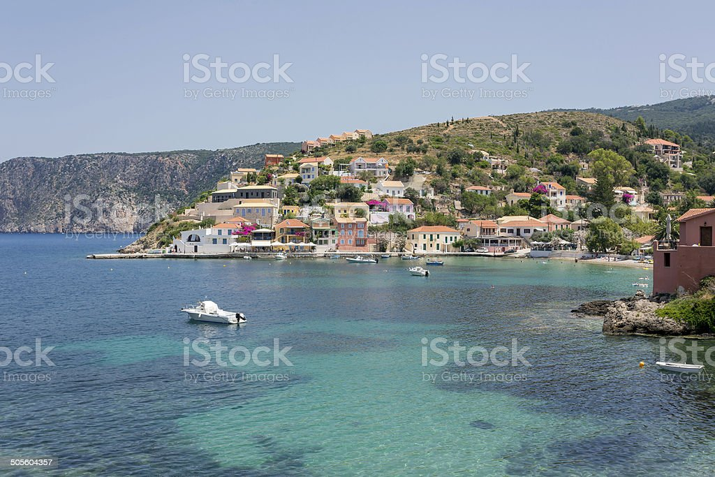 Village of Assos royalty-free stock photo