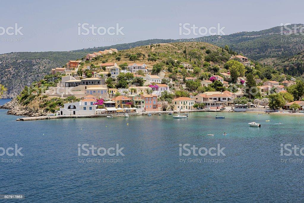 Village of Assos stock photo