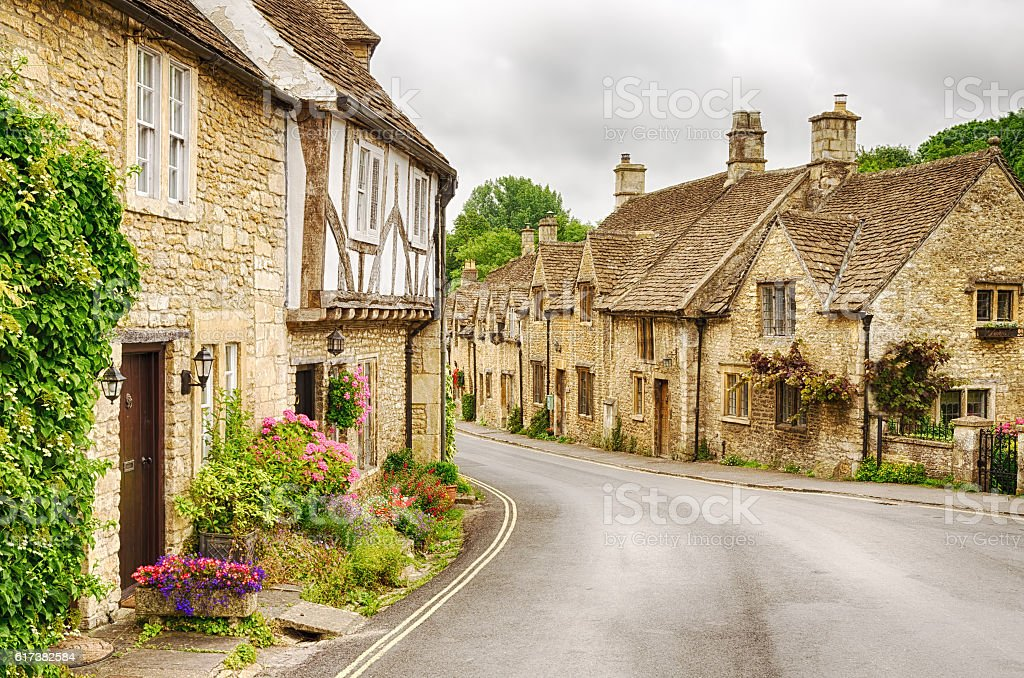 Village of Castle Combe stock photo
