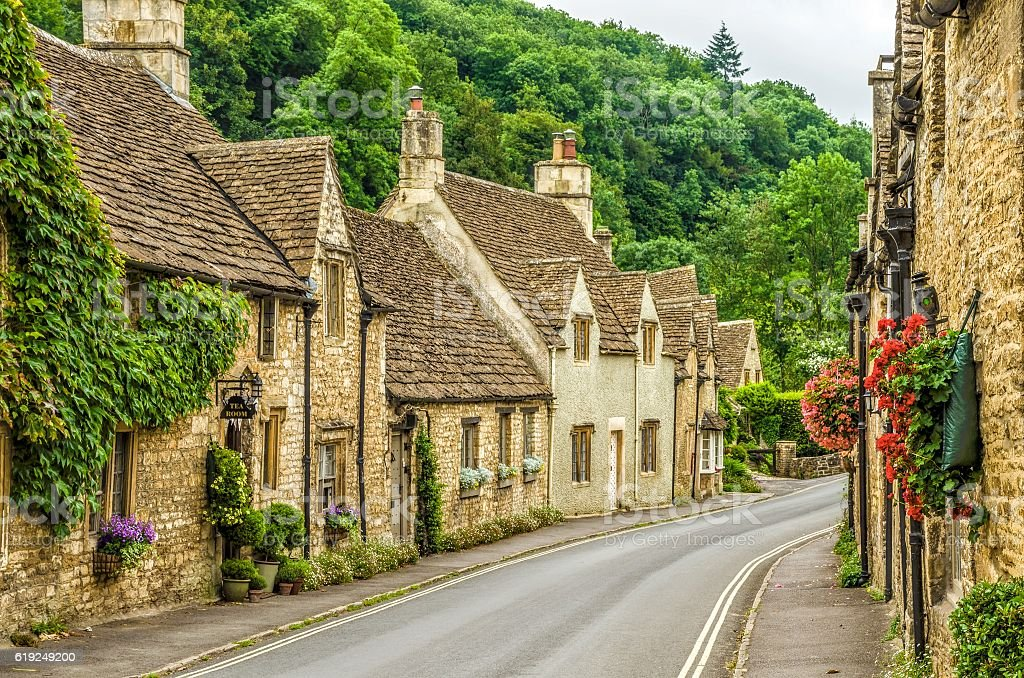 Village of Castle Combe stock photo