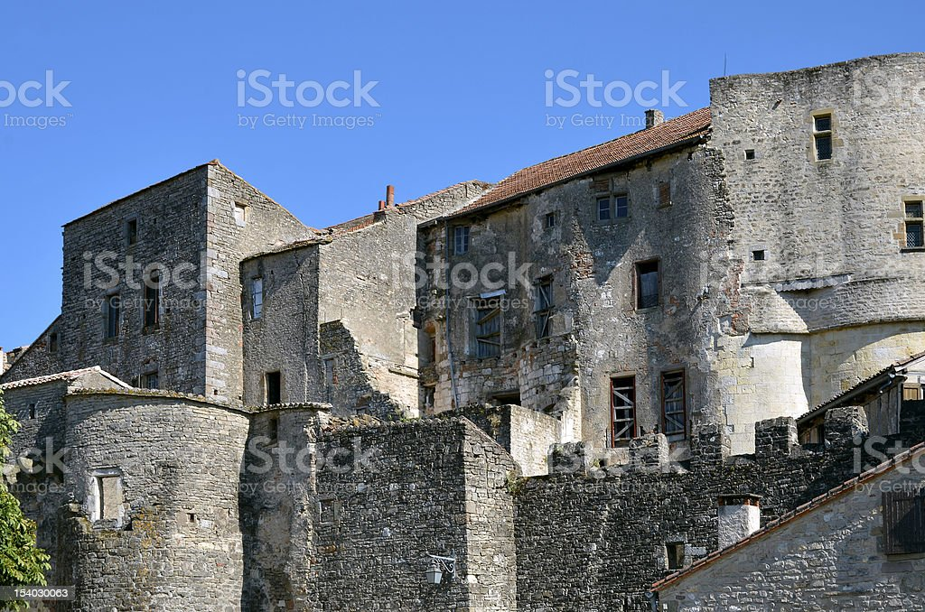 Village of Cordes en Ciel in France stock photo