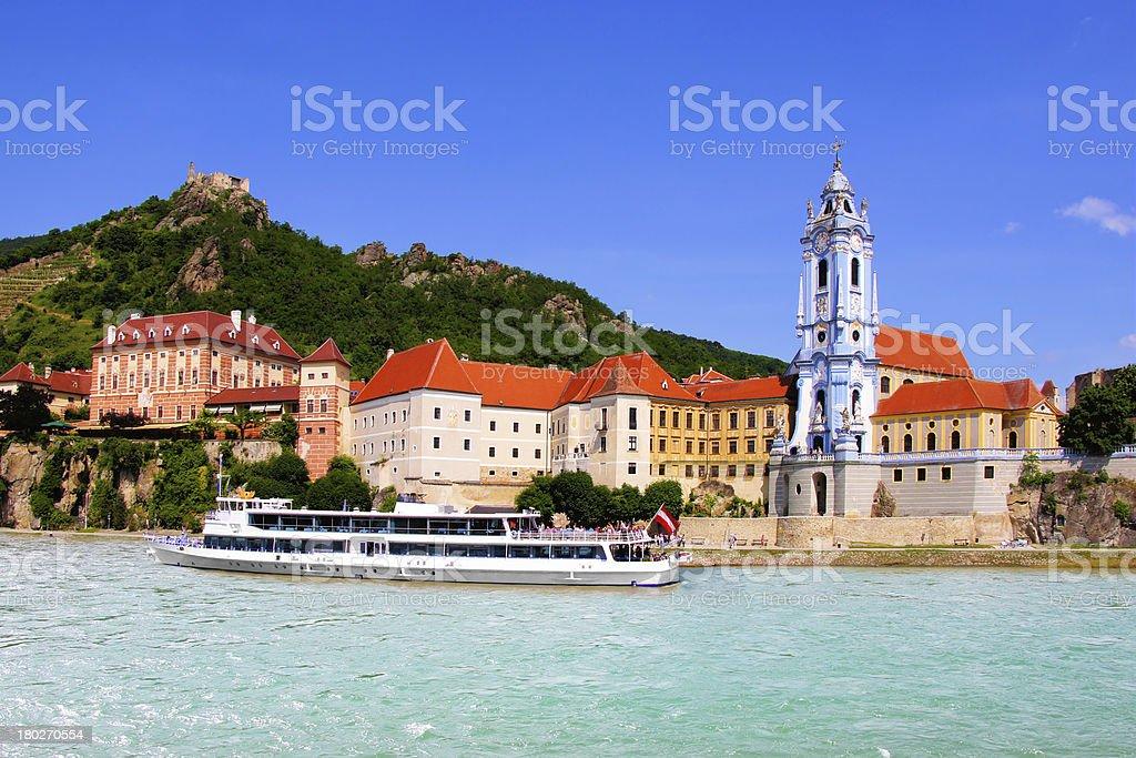 Village of Durnstein along the Danube, Wachau Valley, Austria stock photo