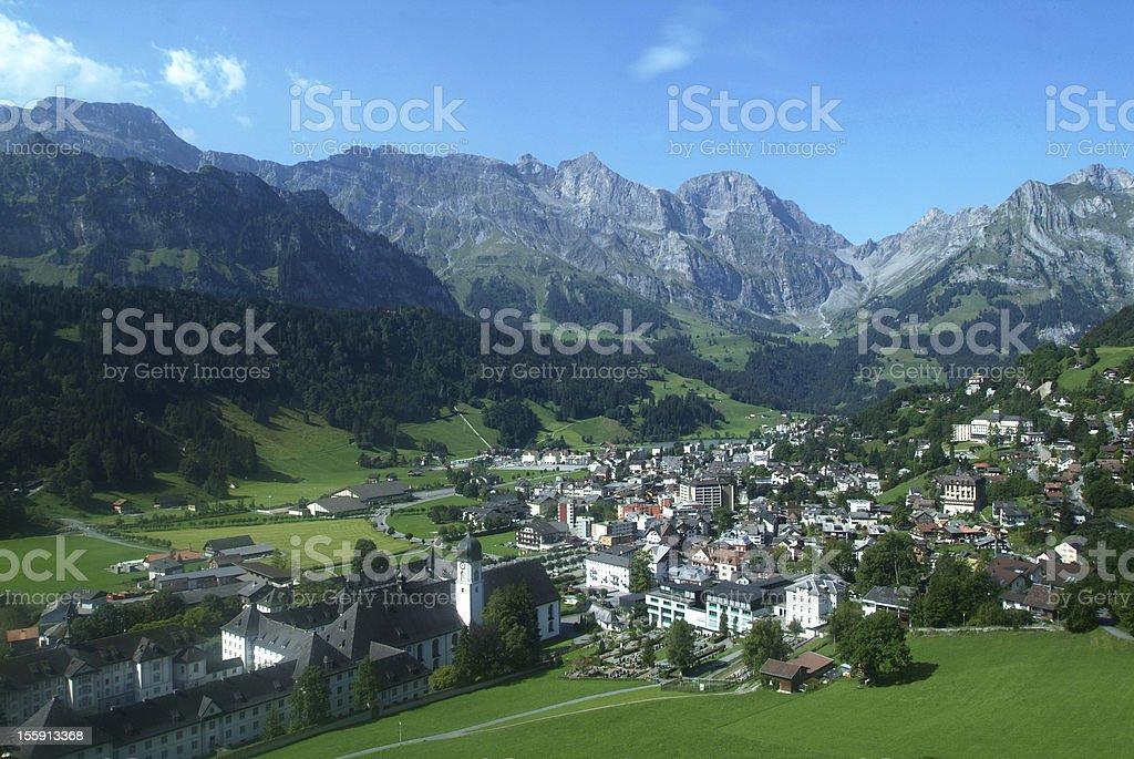 Village of Engelberg stock photo