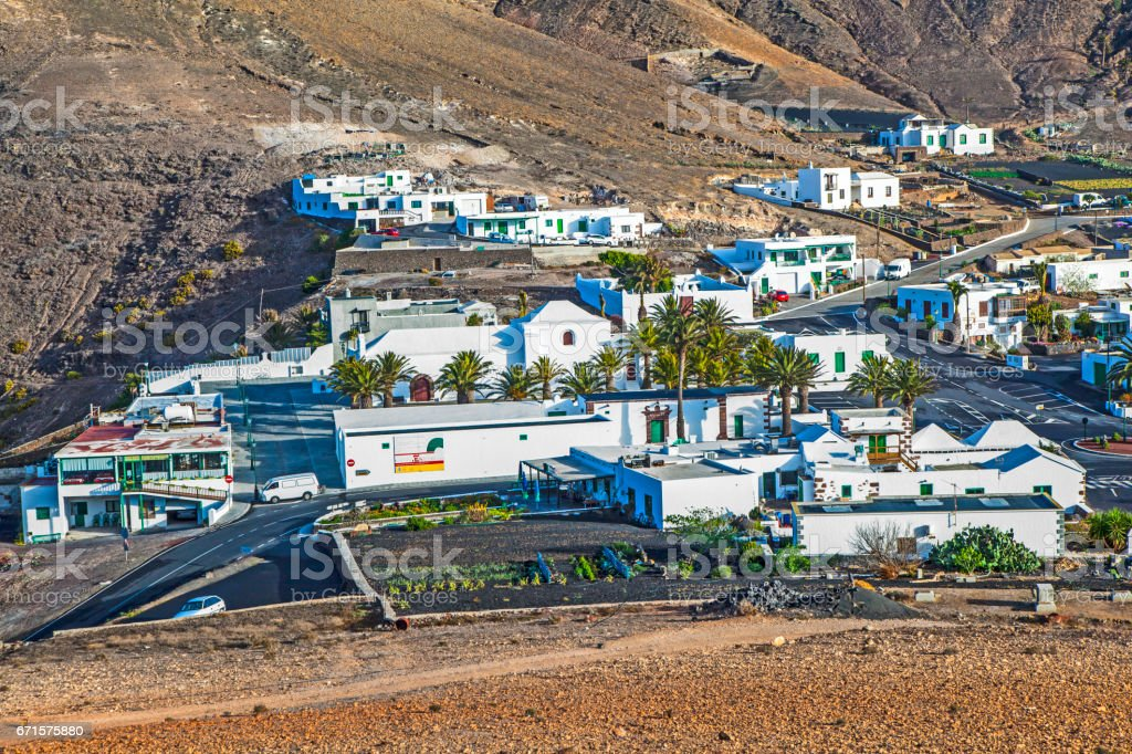 village of Femes in Lanzarote stock photo