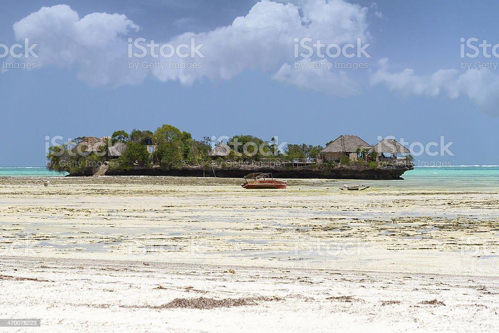 Village of fishermen in Zanzibar stock photo