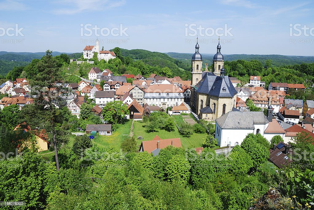 Village Of Goessweinstein stock photo