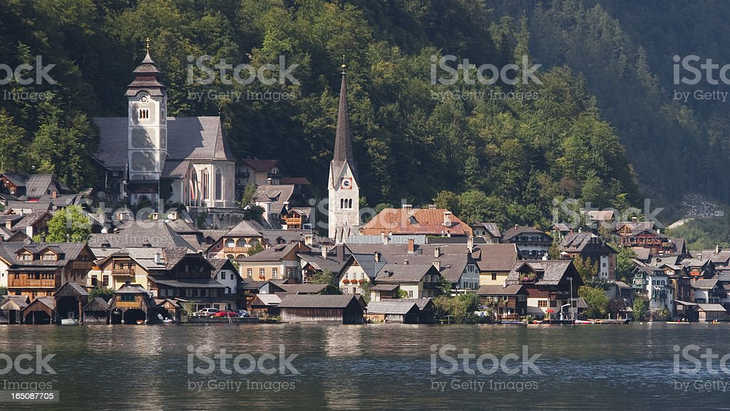 Village of Hallstatt royalty-free stock photo