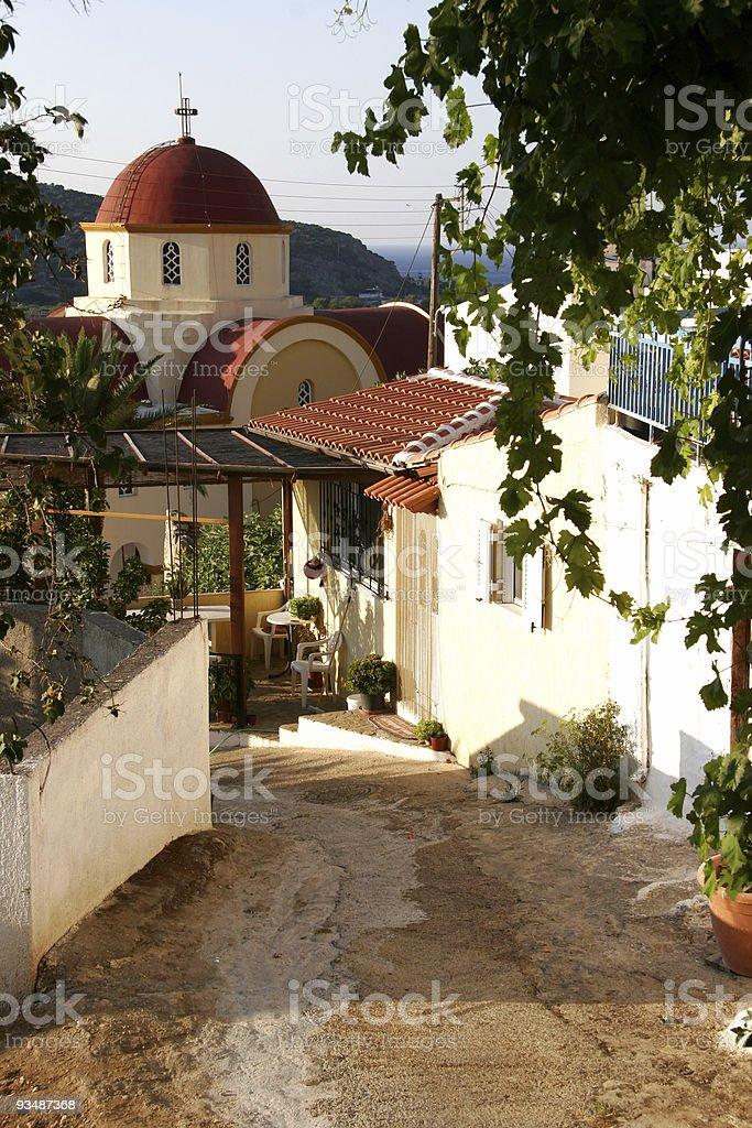 Village of Kalo Horio, Northern Crete royalty-free stock photo
