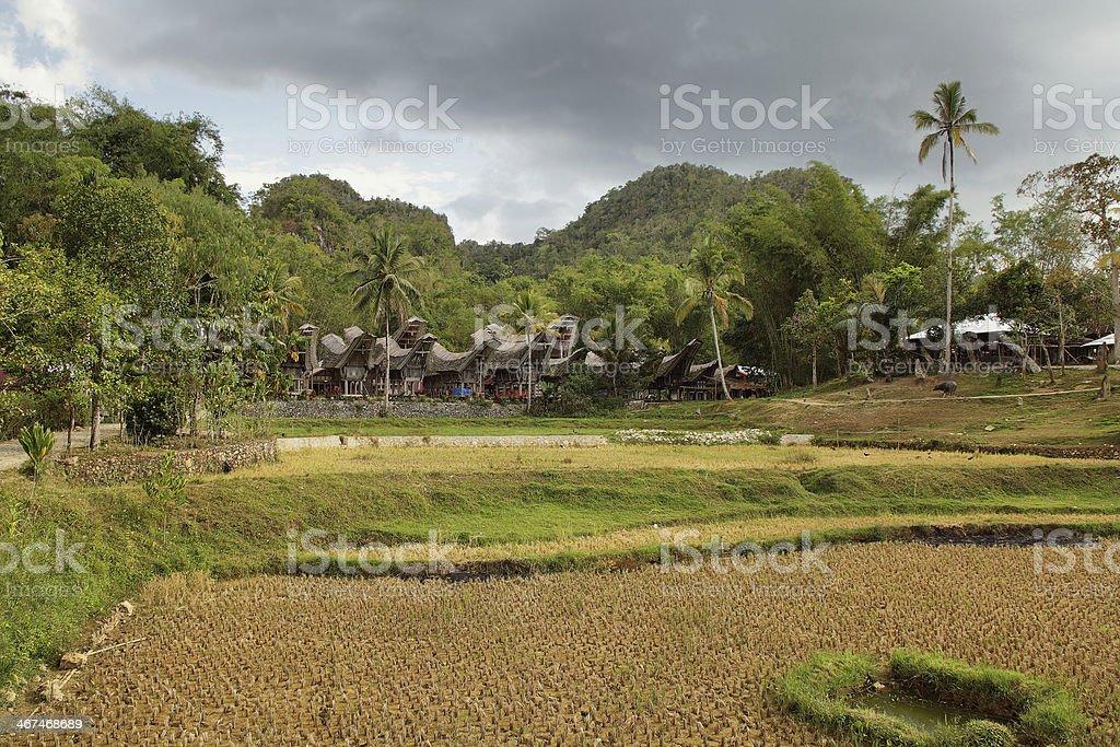 Village of Kete kesu stock photo