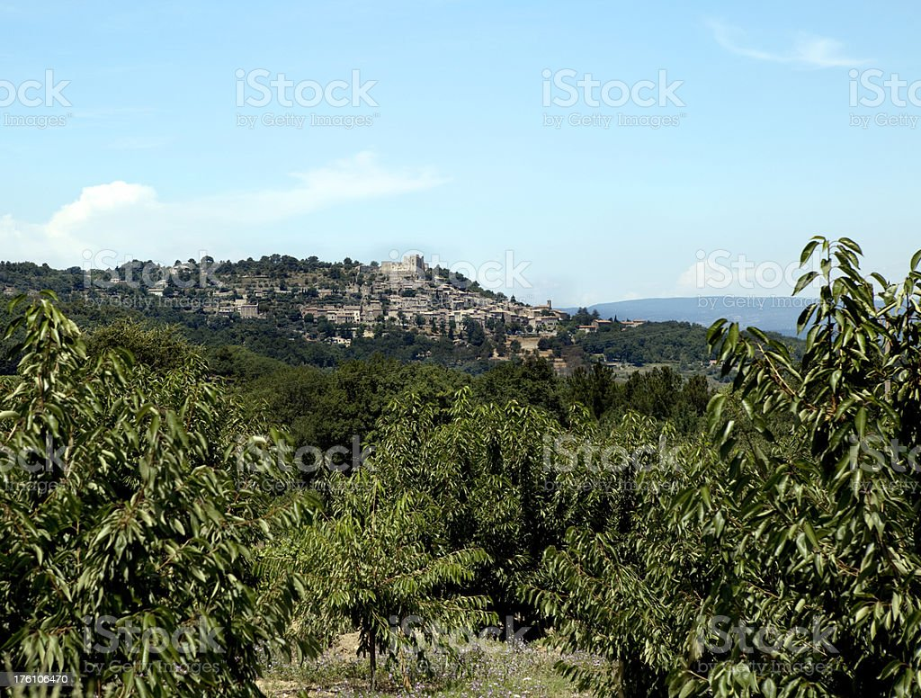 Village of Lacoste in Provence France stock photo