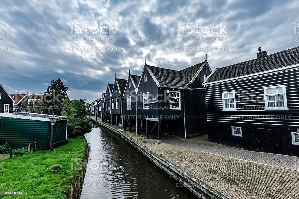 Village of Marken, Netherlands and Traditional Dutch Architecture stock photo