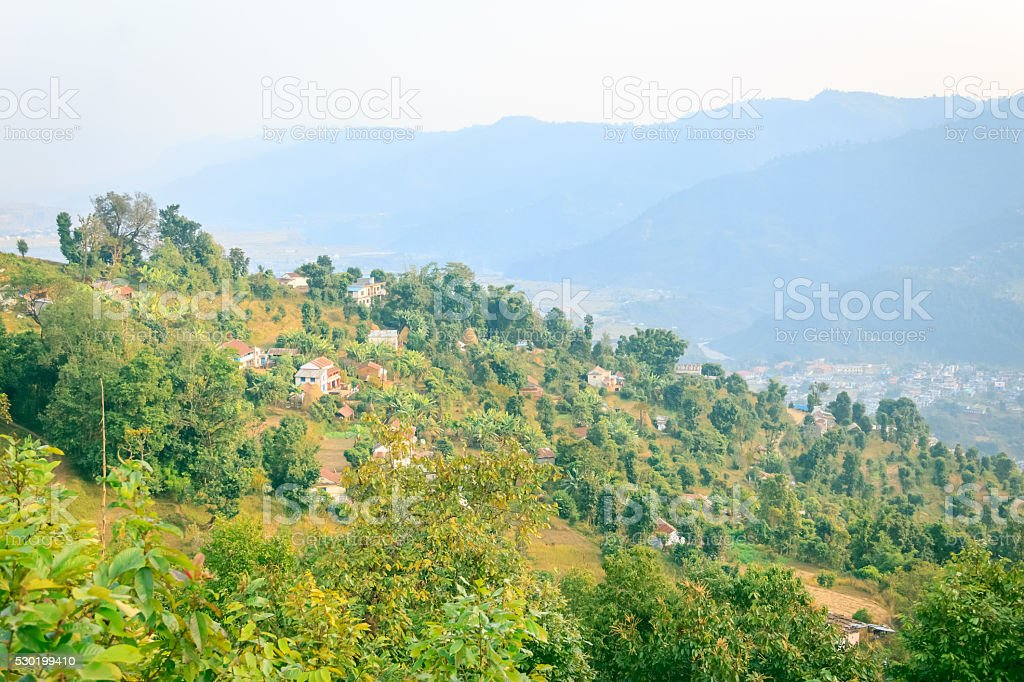 Village of Nepal stock photo