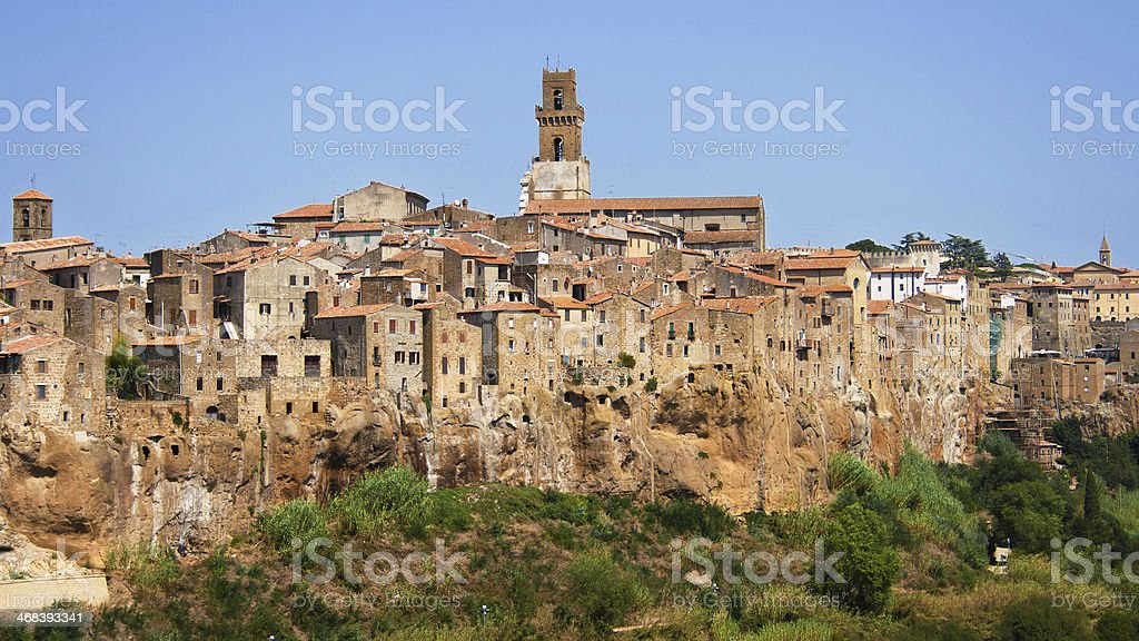 Village of Pitigliano stock photo