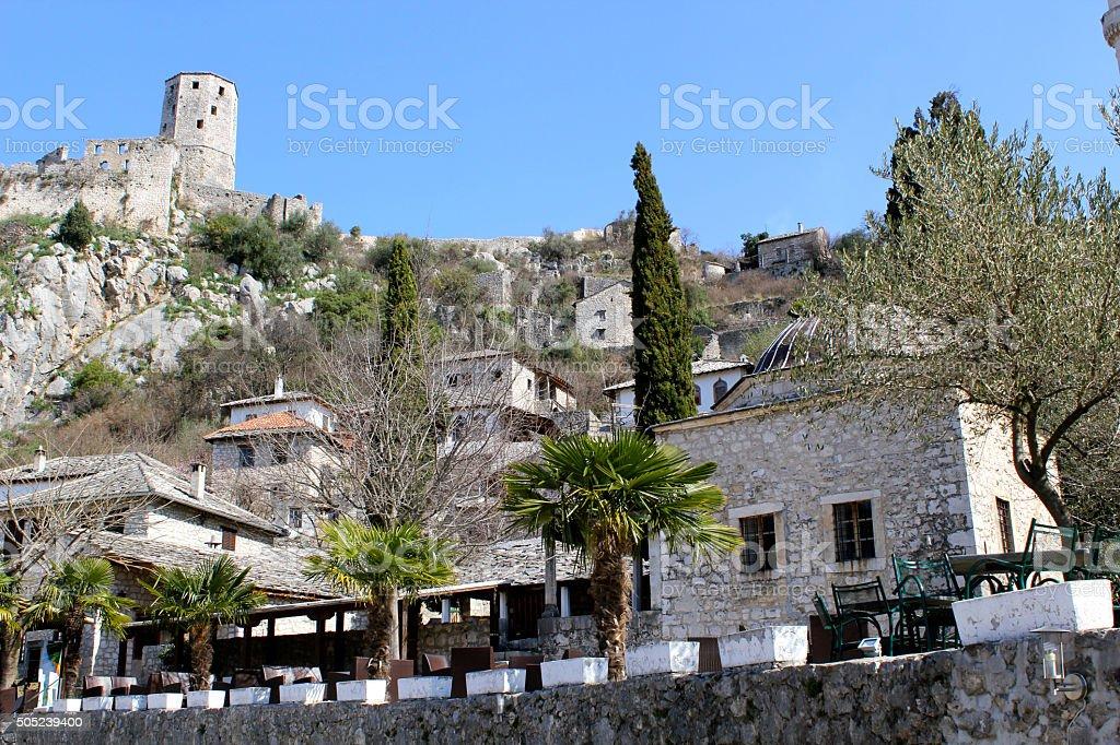 Village of Pocitelj stock photo