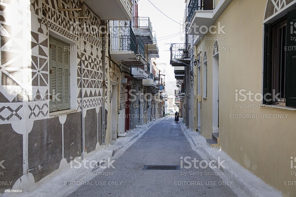 Village of Pyrgi - Chios Island stock photo