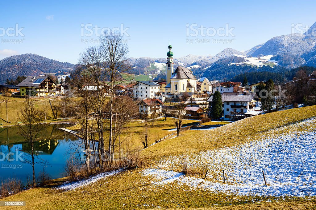 Village of Reith im Alpbachtal in Tyrol, Austria stock photo