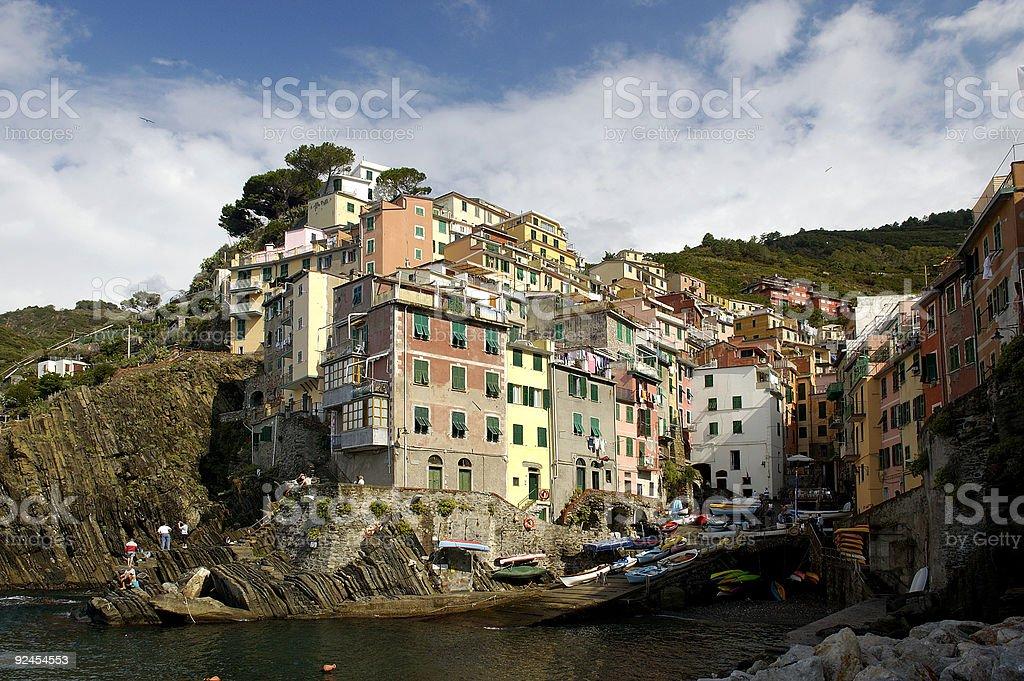 Village of Riomaggiore in Cinque Terre, Italy royalty-free stock photo