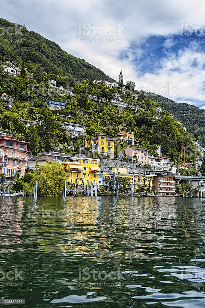 village of Ronco near Ascona in Switzerland stock photo