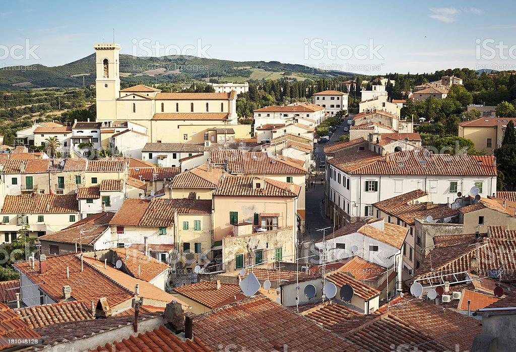Village Of Rosignano Marittimo, Tuscany Italy stock photo