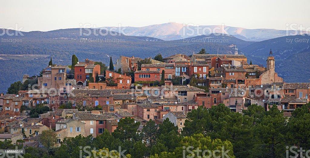 Village of Roussillon stock photo