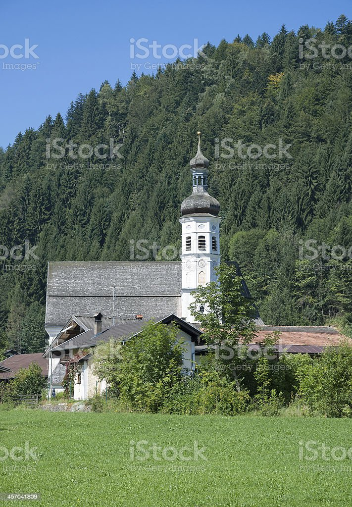 Village of Sachrang near Aschau in Chiemgau,Bavaria,Germany stock photo