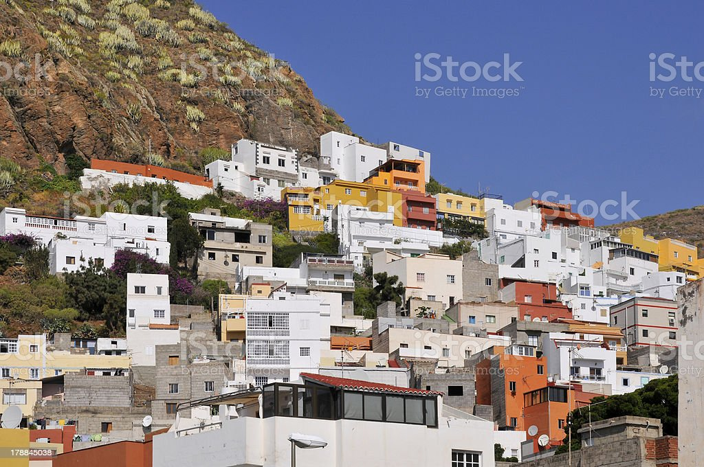 Village of San Andres at Tenerife stock photo