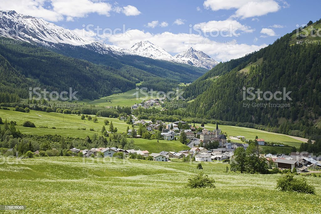 village of Santa Maria stock photo
