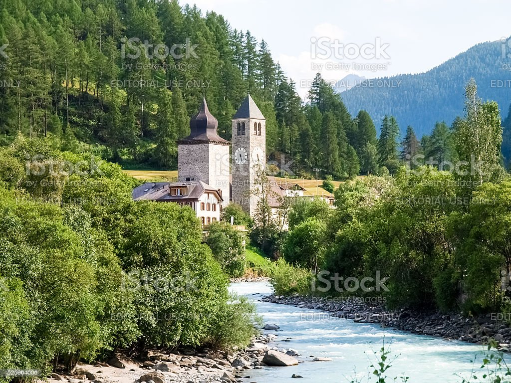 Village of Susch stock photo