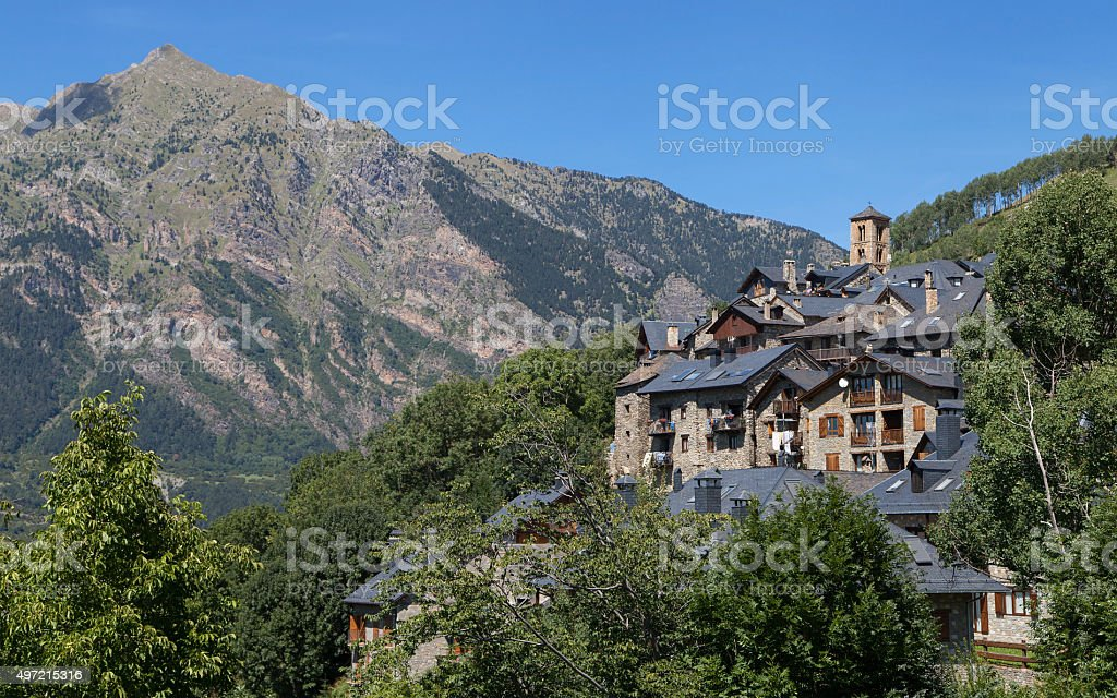 Village of Taull stock photo
