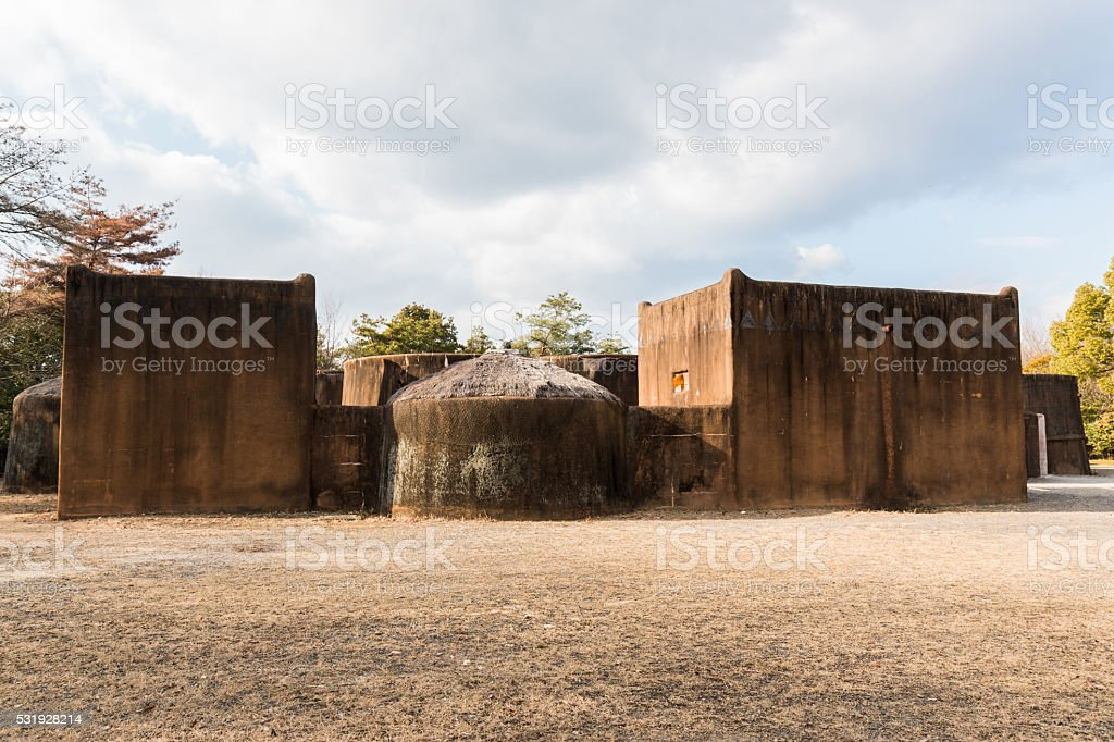 village of the Gaan people of Burkina Faso, Africa. stock photo