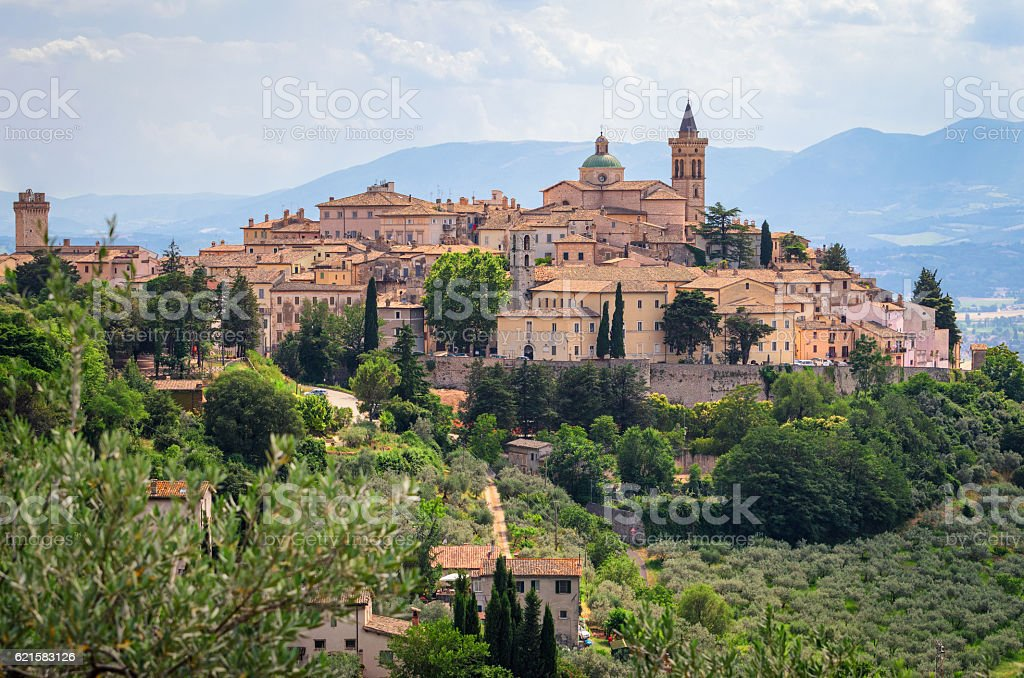 Village of Trevi - Umbria stock photo