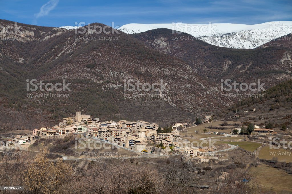 Village of Tuixent stock photo