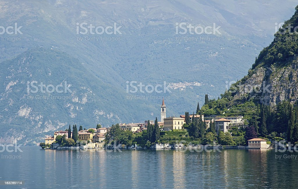 Village of Varenna on Lake Como Italy stock photo