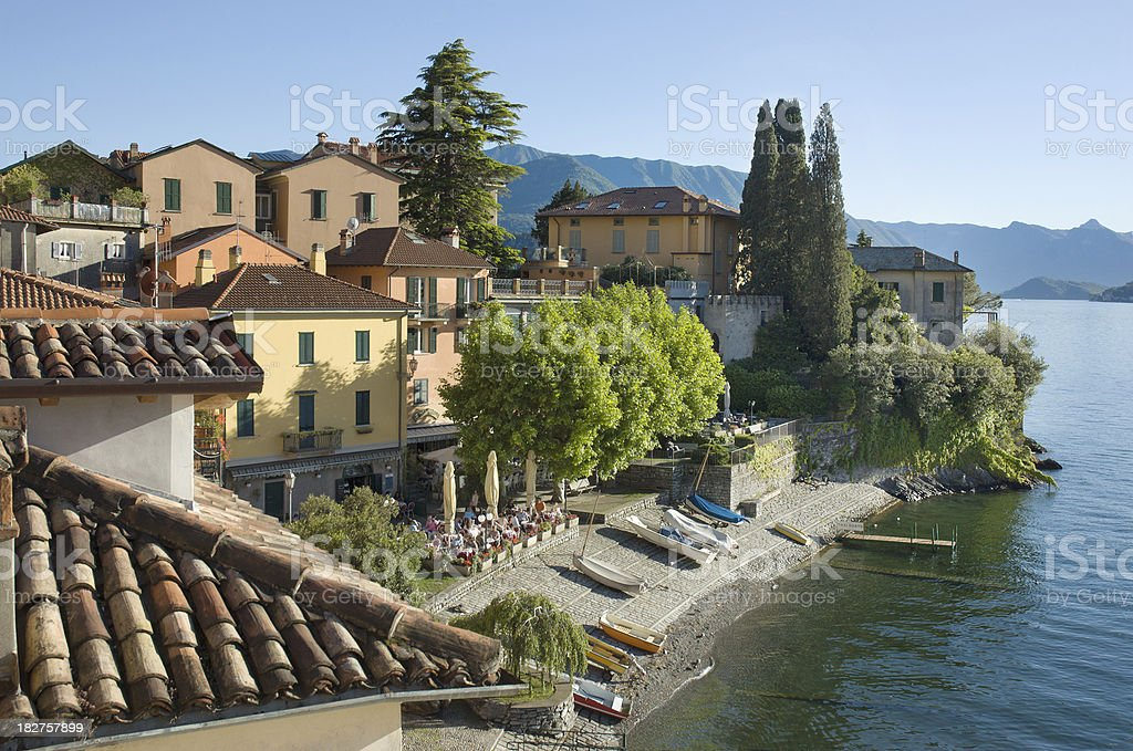 Village of Varenna on Lake Como royalty-free stock photo