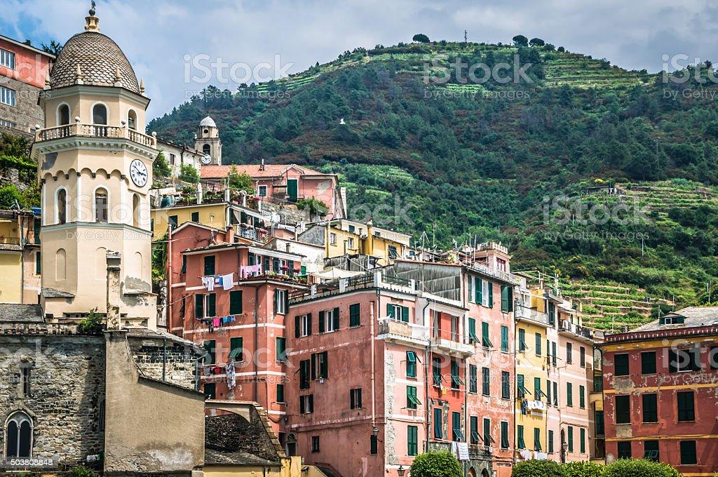 Village of  Vernazza stock photo
