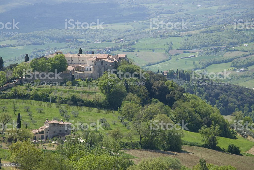 Village on a hill royalty-free stock photo