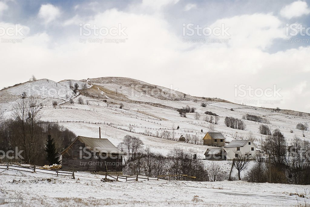 Village on hill royalty-free stock photo