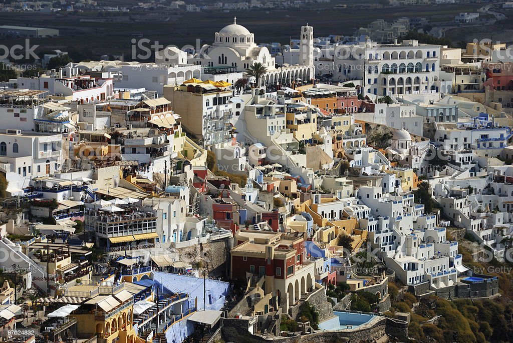 Village on Santorini island royalty-free stock photo