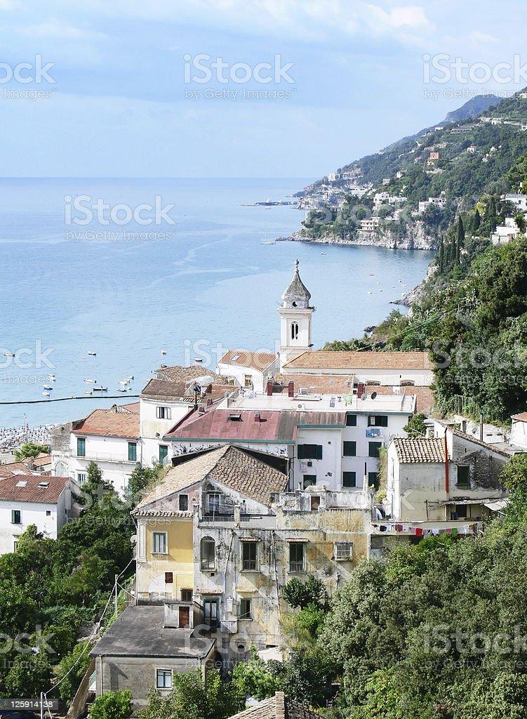 village on sea of coast Amalfi - 'Vietri sul Mare' royalty-free stock photo