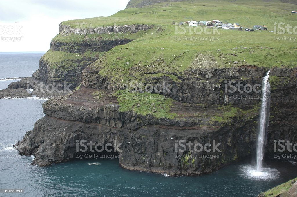 Village on the edge stock photo