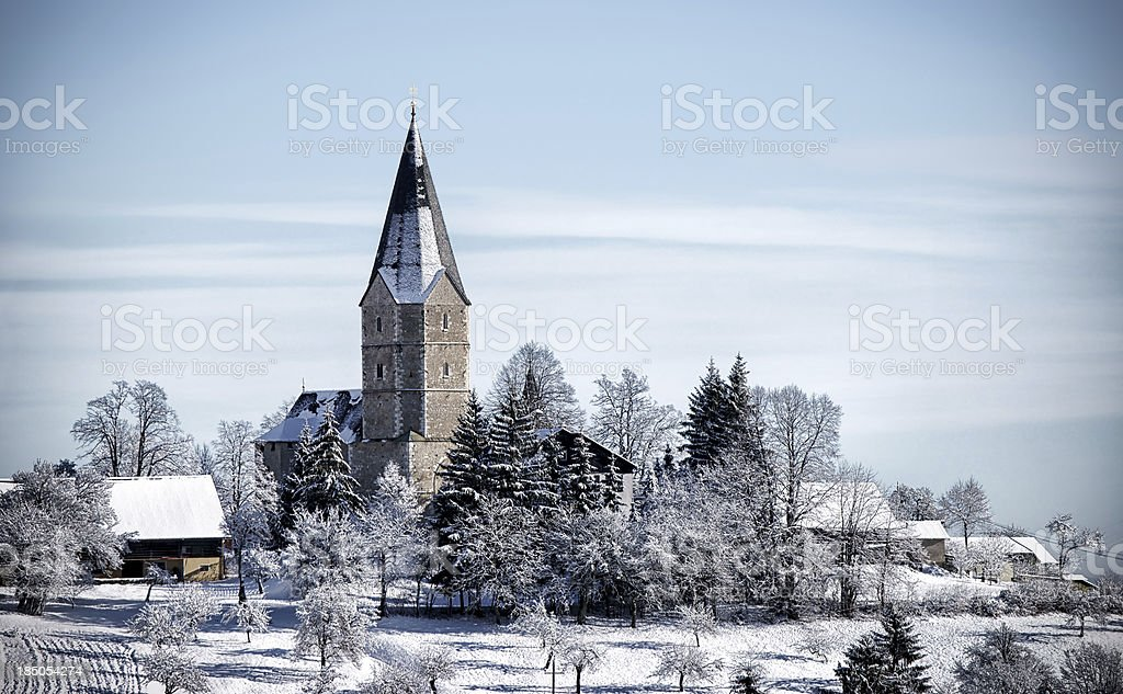 Village on the hill royalty-free stock photo