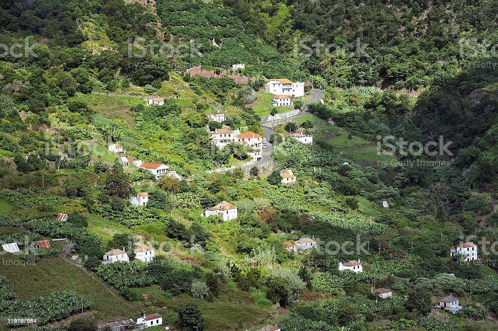 Village on the north coast of Madeira island - Portugal royalty-free stock photo