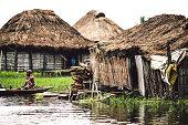 Village on the water. Ganvie, Benin.