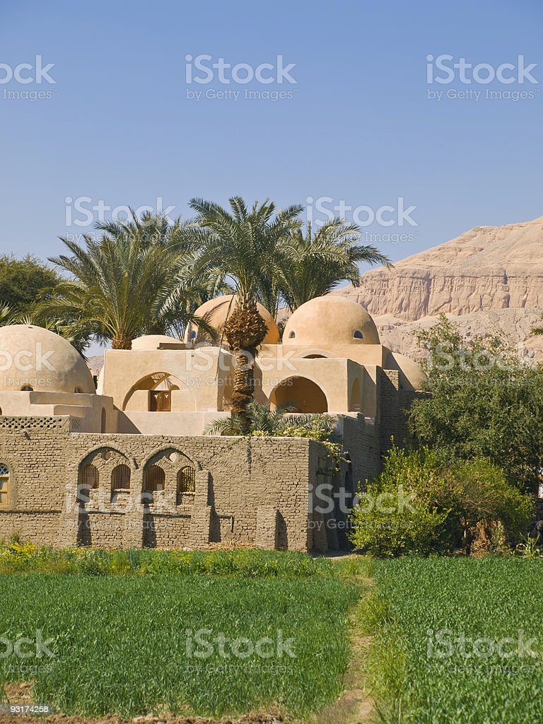 Village on the West bank of Luxor royalty-free stock photo