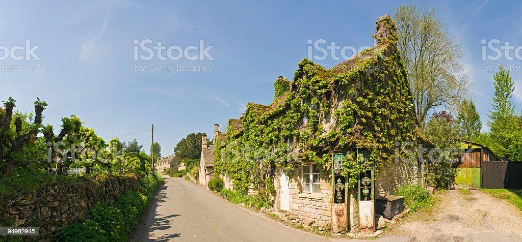 Village pastoral country lane royalty-free stock photo