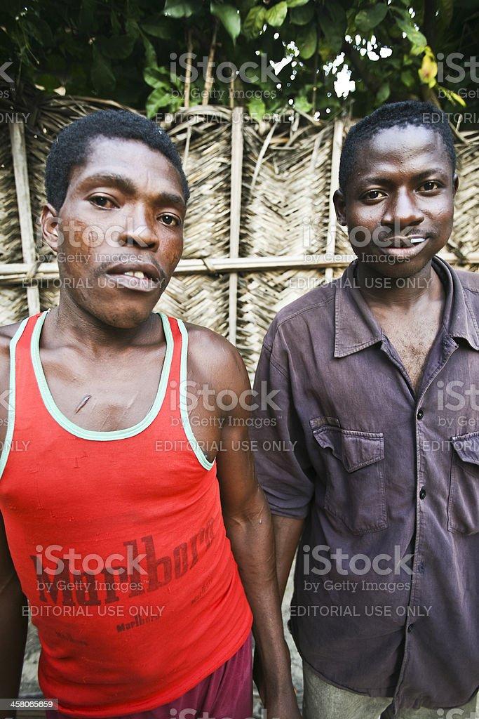 Village people. stock photo
