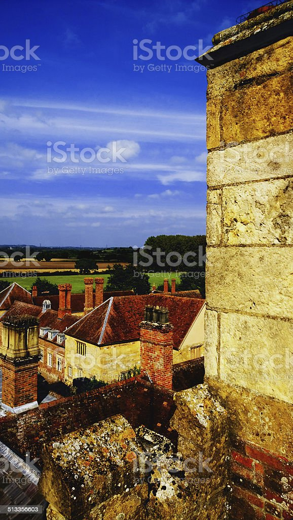 village stock photo